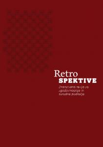 Prva številka revije Retrospektive